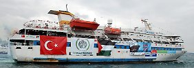 """Die türkische """"Mavi Marmara"""" kam aus Zypern."""