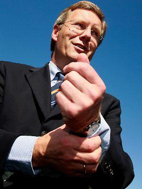 Wulff ist seit 2003 an der Spitze einer CDU/FDP-Koalition niedersächsischer Ministerpräsident.