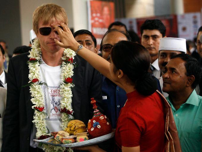 Titan Kahn in Indien: Mit seinem Abschiedsspiel rückte er das Land auf die Fußballkarte.