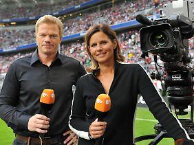 Katrin Müller-Hohenstein analysiert mit Ex-Nationaltorwart Oliver Kahn für das ZDF die WM.