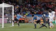 Regenschlacht gegen Südkorea: Suarez glänzt, Uruguay strahlt