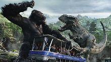 """Auf sie mit Gebrüll: Szene aus """"King Kong 360 3D""""."""