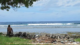 Nur auf den ersten Blick paradiesisch: Kiribati geht unter.