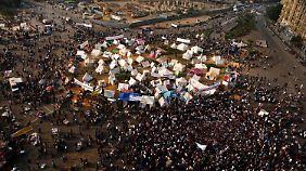 Wieder steht der Tahrir-Platz im Zentrum des Geschehens.