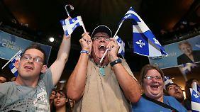 """Wenn sich die """"Parti Quebecois"""" durchsetzt, spaltet sie Kanada in Ost und West."""