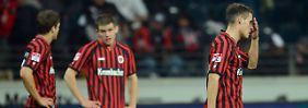 Bedröppelte Hessen: Ausgerechnet gegen Mainz kassierten die Frankfurter die erste Heimniederlage der Saison.
