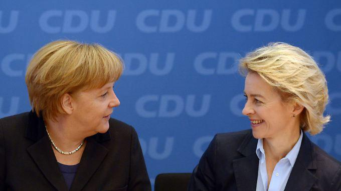 Merkel und Von der Leyen sind sich einig: Auf schlechte Nachrichten verzichten sie gern.