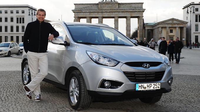 Seit 2010 ist Jürgen Klinsmann Markenbotschafter von Hyundai Deutschland.
