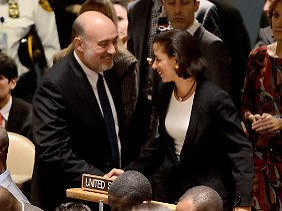 US-Botschafterin bei den Vereinten Nationen: Susan Rice (r.).