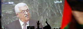 Abbas Rede vor den UN wurde unter Jubel in Ramallah live übertragen.