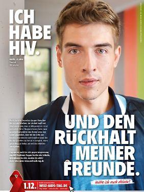 Moritz geht offen mit seiner Infektion um, auch im Job.