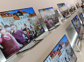 Bei hochaufgelöstem Bildmaterial kann man dem Fernseher bis auf die dreifache Bilddiagonale nahekommen.