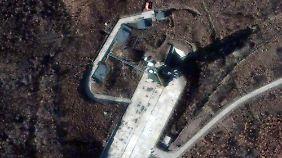 Die Satellitenaufnahme zeigt die Startrampe in Sohae, wo die Rakete gezündet werden soll.