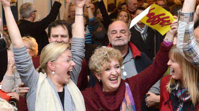 Große Freude herrscht bei den Befürwortern des Nachtflugverbots in Teltow.