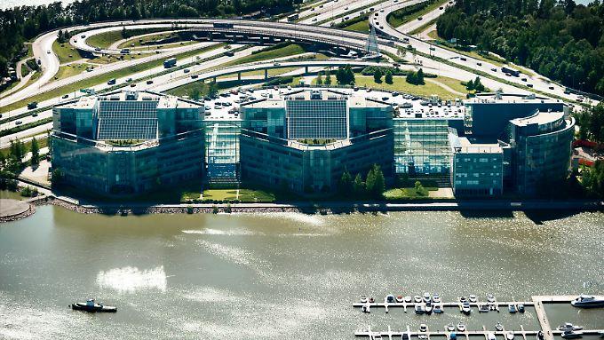 Luftaufnahme vom Nokia-Firmensitz in Espoo.