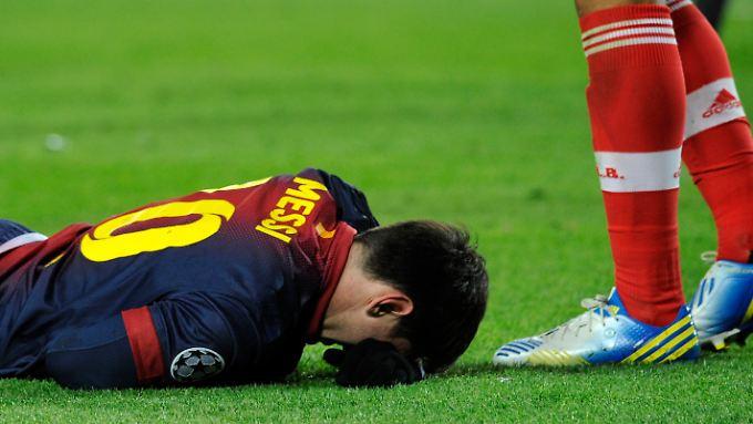 Am Boden: Für Weltfußballer Lionel Messi sind Verletzungen trotz vieler harter Fouls eine Rarität.