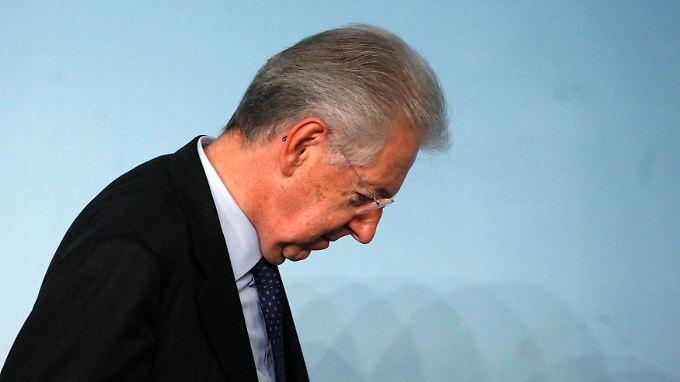 Monti kündigt seinen baldigen Rücktritt an - was dann kommt, ist bisher unklar.