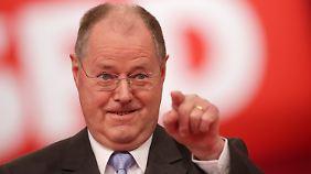 Weniger ich, mehr wir: Steinbrück begeistert die Genossen