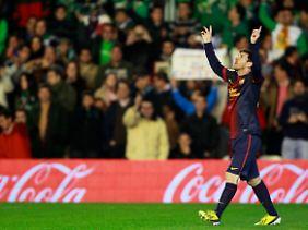 Messi bleiben noch drei Spiele, um seine neue Tor-Bestmarke weiter auszubauen.