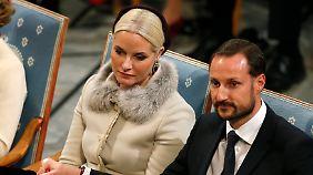 Im Publikum: Prinzessin Mette-Marit und Prinz Haakon.