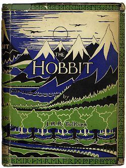 """Cover der Erstausgabe des """"Hobbit"""" von 1937."""