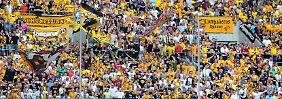 """""""6 dynamische Heimspiele sind geiler als der DFB-Pokal 2013/2014"""": Dresdens Fans geben sich trotzig."""