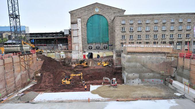 Neben dem Berliner Flughafen die teuerste Baustelle Deutschlands: Stuttgart 21.