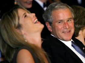Ex-Präsident Bush und seine Tochter Jenna.