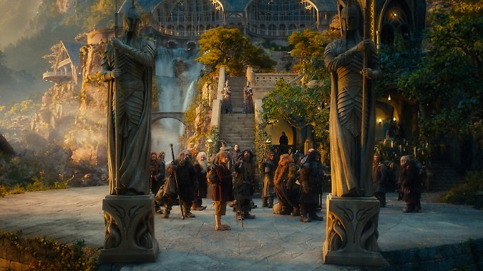 """""""Der Hobbit"""" mit seinen Gefährten: Bilbo Beutlin und die Zwerge."""