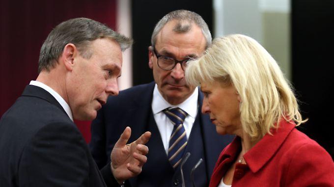 Thomas Oppermann (SPD), Volker Beck (Grüne) und Dagmar Enkelmann (Linke).