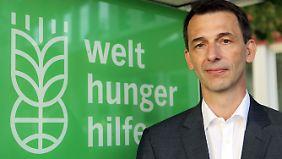 Seit 2009 steht Wolfgang Jamann an der Spitze der Deutschen Welthungerhilfe. Er war selbst auch als Entwicklungshelfer unterwegs - unter anderem in Ostafrika.