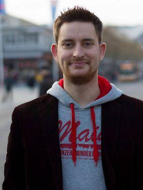 """""""Wir sind bereit, darüber zu reden"""": Ben Praße, 29 Jahre alt, leitet im richtigen Leben die IT-Abteilung einer Werbeagentur. Und ist Fan des FSV Mainz 05."""