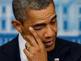 Obama war bewegt. Waffengegner befürchten, dass trotzdem keine Taten folgen.