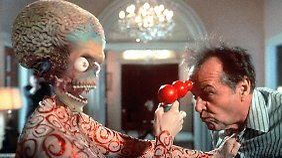 """""""Yak yak yak"""": """"Mars Attacks!"""" von Regisseur Tim Burton ist vielleicht der beste Film über die Apokalypse, nicht nur wegen seines sensationellen Staraufgebots (hier Jack Nicholson), sondern auch, weil er sich nicht an die Regeln für Endzeitfilme hält."""
