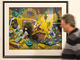 Barks ließ Dagobert nicht nur in Comics auftreten, er malte ihn auch vielmals in Öl.