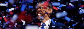 Hat trotz Krise und schlechter Arbeitslosigkeitsquote seinen Posten behalten können: US-Präsident Obama.