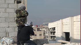 Bei den Straßenkämpfen in Damaskus.