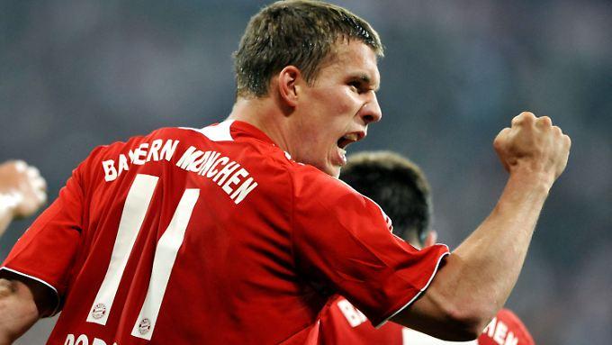 Einst im Trikot des FC Bayern: Lukas Podolski spielte von 2006 bis 2009 für die Münchner.
