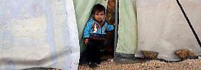 Ein Kind in einem syrischen Flüchtlingscamp im Libanon.