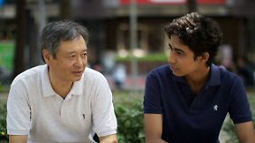 Ang Lee mit seinem Hauptdarsteller Suraj Sharma.