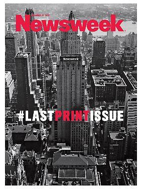 Mit Twitter-Hashtag: Die letzte Printausgabe der Newsweek.