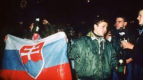 Gefeiert wird an Silvester 1992 auch in Bratislava.