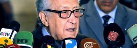 Lakhdar Brahimi ist zu schwierigen Gesprächen nach Damaskus gereist.
