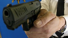 Zum Vergleich: eine Dienstpistole der Polizei vom Typ Walther P 99 Q.