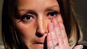 Lange Suche mit spätem Erfolg: die Mutter der entführten Sechsjährigen, Gemma Wilkinson.