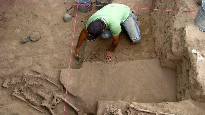 Archäologen stoßen nördlich von Mexiko-Stadt auf historische Menschenknochen.