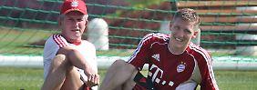 Das war in der vergangenen Jahr: Münchens Trainer Jupp Heynckes und Bastian Schweinsteiger im besten Trainingslager aller Zeiten, wie es damals hieß.