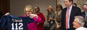Vier Wochen krank: Clinton zurück im Amt