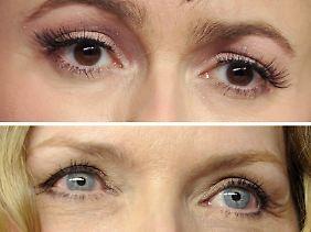 Entscheiden Sie selbst, wem Sie vertrauen möchten: den braunen Augen der britischen Schauspielerin Helena Bonham-Carter (oben) oder den blauen Augen der US-Schauspielerin Michelle Pfeiffer?