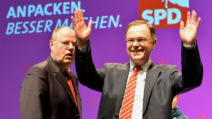 Steinbrück kann Weil derzeit kaum Rückenwind bieten, umgekehrt erhofft er sich von der Niedersachsen-Wahl aber Schwung für sein Duell gegen Kanzlerin Merkel.